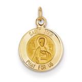 Saint John Medal Charm 14k Gold XR619