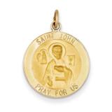 Saint John Medal Pendant 14k Gold XR620