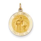 Saint Gerard Medal Pendant 14k Gold XR624