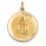 Saint Martha Medal Pendant 14k Gold XR630