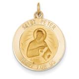 Saint Peter Medal Pendant 14k Gold XR634