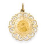 Our Lady Of The Assumption Medal Pendant 14k Gold XR641
