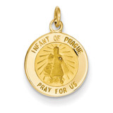 Infant of Prague Medal Charm 14k Gold XR645