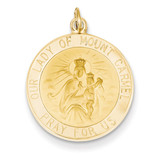 Our Lady of Mt. Carmel Medal Charm 14k Gold XR652