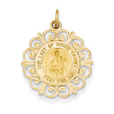 Our Lady of Mt. Carmel Medal Charm 14k Gold XR653