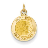 Matka Boska Medal Charm 14k Gold XR654