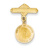 Our Lady of Sorrows Medal Pin 14k Gold XR659
