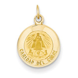 Our Lady of Cuba Medal Charm 14k Gold XR663