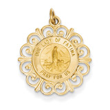Our Lady of Fatima Medal Pendant 14k Gold XR667