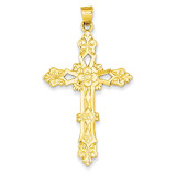 Cross Pendant 14k Gold Polished XR706
