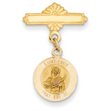 Saint Lucy Medal Pin 14k Gold XR753