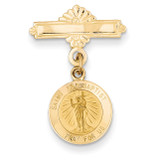 Saint John the Baptist Medal Pin 14k Gold XR754