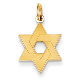 Laser Designed Star of David Charm 14k Gold XR984