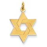 Laser Designed Star of David Pendant 14k Gold XR985