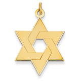 Laser Designed Star of David Pendant 14k Gold XR986