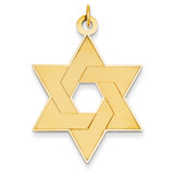Laser Designed Star of David Pendant 14k Gold XR987