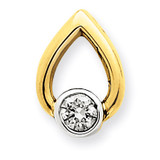 Diamond Slide Mounting 14k Gold XS1192