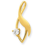 Diamond Slide Mounting 14k Gold XS1226