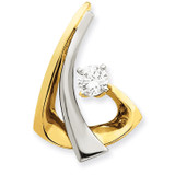 Diamond Slide Mounting 14k Two-tone Gold XS1230