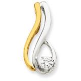 Diamond Slide Mounting 14k Two-Tone Gold XS1237