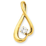 Diamond Slide Mounting 14k Gold XS1238