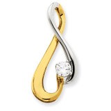 Diamond Slide Mounting 14k Two-Tone Gold XS1239