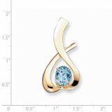 10x8mm Oval Blue Topaz slide 14k Gold XS171BT