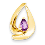 7x5mm Pear Amethyst Slide 14k Gold XS195AM