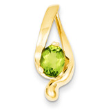 8x6mm Oval Peridot Slide 14k Gold XS197PE