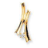 Holds 4mm Stone, Slide Mounting 14k Gold XS597