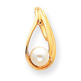 Cultured Pearl Slide Mounting 14k Gold XS615