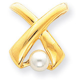 Cultured Pearl Slide Mounting 14k Gold XS616