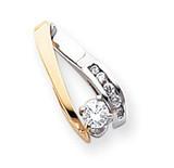 Diamond slide 14k Two-Tone Gold XS627A
