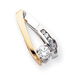 Diamond slide 14k Two-Tone Gold XS627VS