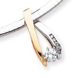 Diamond slide 14k Two-Tone Gold XS628AAA