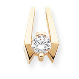 Holds 6.5mm Stone, Chain Slide Mounting 14k Gold XS657