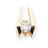 Holds 5.25mm Stone, Chain Slide Mounting 14k Gold XS659