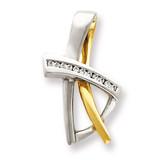 Diamond slide 14k Two-Tone Gold XS697A