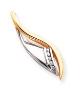 Diamond slide 14k Two-Tone Gold XS702A