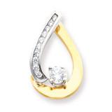 Diamond slide 14k Two-Tone Gold XS895A