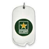 US Army Star Dog Tag Sterling Silver XSM128