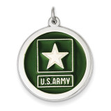 US Army Star Disc Sterling Silver XSM140