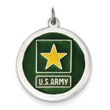 US Army Star Disc Sterling Silver XSM141