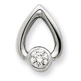 Diamond Slide Mounting 14k White Gold XSW372