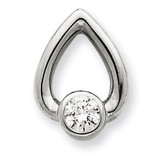 Diamond Slide Mounting 14k White Gold XSW373
