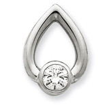 Diamond Slide Mounting 14k White Gold XSW374