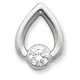 Diamond Slide Mounting 14k White Gold XSW375