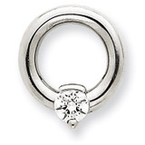 Diamond Slide Mounting 14k White Gold XSW388