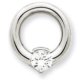 Diamond Slide Mounting 14k White Gold XSW390