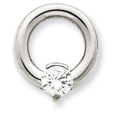 Diamond Slide Mounting 14k White Gold XSW391